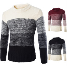 Autumn winter new High Quality Fashion Pullover Men Knitted Slim Sweater Jumper Mens Casual V-neck Sweaters pull homme