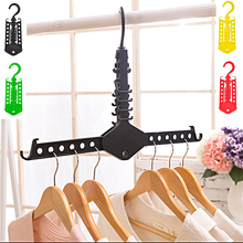 1pc New Delicate Clothes Hanger Folding Rack Magical High Quality Convenient Save Space Vintage Accessories(China)