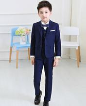 Boys blazers kids Boys suits for weddings Prom Suits Wedding Dress for Boys Kids tuexdo Children Clothing Set Blazers for Boys(China)