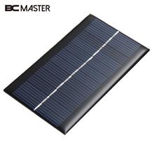 BCMaster New 4 PCS Mini Smart Poly Module DIY Solar Panel Battery Charger with USB Cable 6V 1W for Power Bank Supply Waterproof
