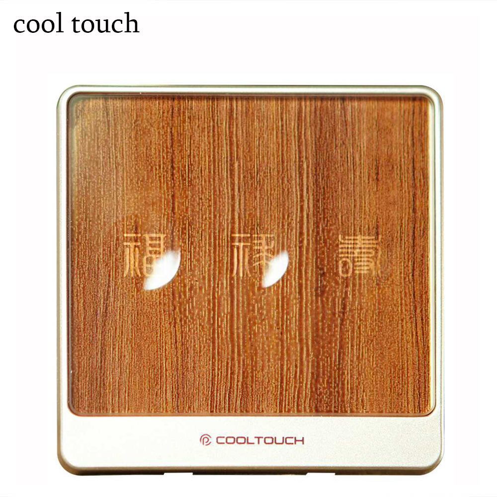 Cooltouch CTSS-WMJ 1/2/3 Gang Smart Touch Switch Wifi 2.4 G AC Wireless Panel Control Light Controller Body Induction-Brown <br>