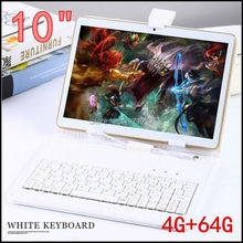 10 inch 3G 4G LTE tablet pc Octa core 1280*800 5.0MP 4GB 64GB Android 5.1 Bluetooth GPS tablet 10 with keyboard(China)