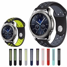 Buy Sport Strap band samsung gear s3 Frontier/Classic Breathable Silicone Bracelet Watchband Replacement wristband metal buckle for $5.58 in AliExpress store