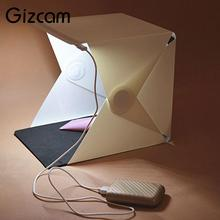 Gizcam 21.5cmX22cmX25cm Foldable Photo Studio Soft Box camera light box LED Light Cube Tent Mini Soft Box