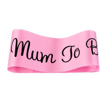 2017 New Mum To Be Sash Baby Shower baldric Boy Girl Party Decoration Centerpieces Pink Blue White