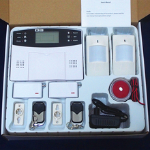 Home security Wireless GSM Alarm systems with LCD Keyboard Sensor alarm Support English Russian Spanish French Voice