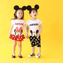 SS23 0-4Y Mickey Summer Baby Boys Clothing Sets Micky Mouse Kids Clothes Girl T Shirts Shorts suits Girls toddler Children