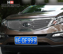Stainless Steel Car Racing Grills For KIA sportage 2012 Front Grill Grille Cover Trim Car styling