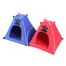 Good quality Dogs Cats portable foldable Tent pet House kennel Pets Fashion Outdoors Camping Home two colors  FMYK057