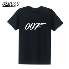 2017 New Brand Quality Movie Film James Bond 007 T Shirts Fashion Cotton Male T-shirt Short Sleeve O Neck Tops Tees Size XS-XXL