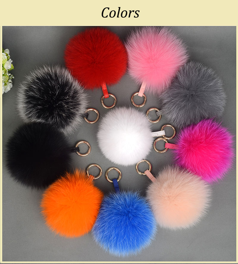 fox fur pompom color
