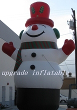 Super quality funny inflatable christmas decorative snowman ornaments outdoor