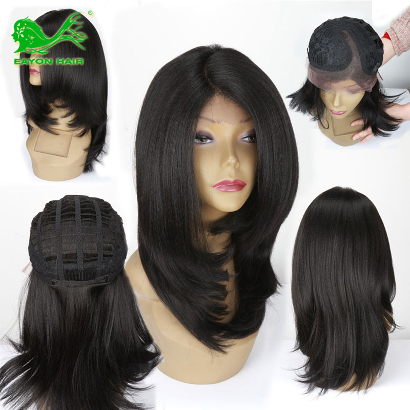 Cheap Lace Front Synthetic Wigs for Black Women Yaki Synthetic Hair Lace Front Wigs Deep Side Part Natural Looking Synthetic Wig<br><br>Aliexpress