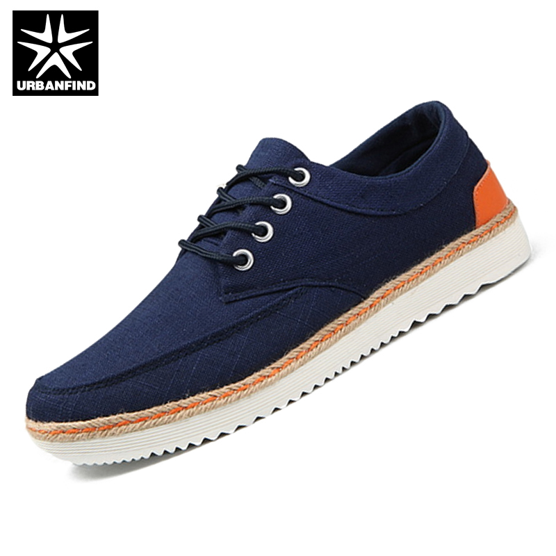 URBANFIND Large Size Men Casual Canvas Shoes EU Size 39-47 Rubber Outsole Man Lace-up Footwear For All Seasons<br><br>Aliexpress