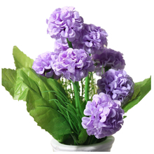 9 Heads 1 Bouquet Artificial Chrysanthemum Silk Flowers Floral Home Garden Decor Color:Light Purple