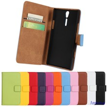 High Quality Genuine Leather Cover For Sony Xperia S Case LT26i with Card Slot Real Leather Cover For Sony Ericsson Arc HD Case