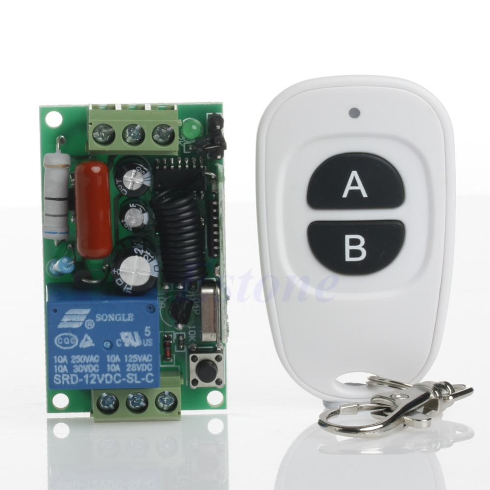 220V 315/433MHz Wireless ON OFF Light Remote Control Switch Receiver Transmitter<br><br>Aliexpress
