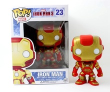 Funko POP! Marvel Iron man 3 Iron Patriot Red Bubble Head Vinyl Toy Figure Kids Birthday Christmas Gift 10cm/4in New in Box