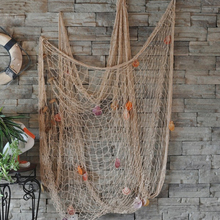 High Quality Fishing Net bar 3D wall decoration Nautical Home Decor for embroidery Mediterranean Style Sticker Crafts 100cm*200(China)