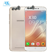 Russian stocks Doogee X30 Quad Cameras Android 7.0 Mobile Phone 5.5 Inch HD 2G RAM 16GB ROM Smartphone 3360mAh Unlock Cellphone(China)
