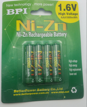 4pcs/lot High energy BPI AAA 1000mah 1.6V Ni-Zn rechargeable battery bateria nizn high capacity free shipping