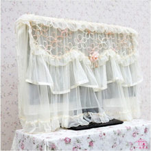 "Hot 26""/32""/37""/42""/47""/52""/55"" hanging TV cover wall mounted LCD flower LACE dustproof television covers quality textile(China)"