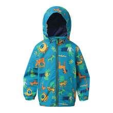Kids Sport cartoon Jackets Waterproof Windproof Boys Jackets Children Outerwear spring jacket girls For 4-10 Years Old 2 Colors(China)