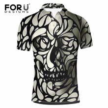 FORUDESIGNS 2017 Brand Skull Women Polo Shirt Casual Short Sleeved Polo Ralphmen Aeronautica Militare Men Polos Tommis Boys Tops