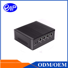 Barebone Mini PC J1900 Quad Core 4 LAN 1080P 12V Mini Desktop Computer 1*VGA Integrated Card Mini Linux Embedded PC