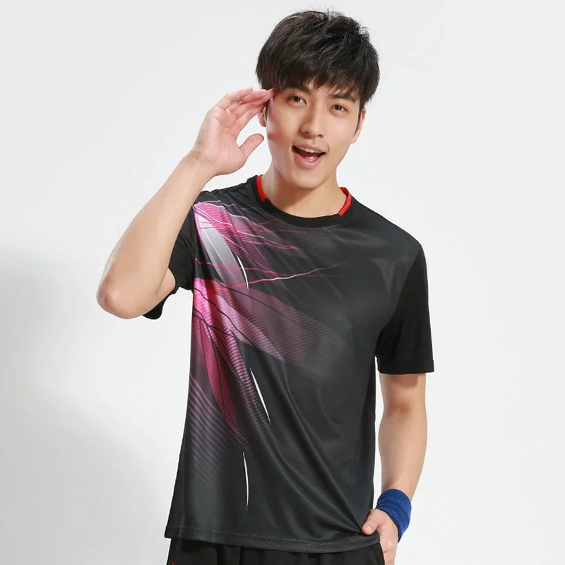New mens breathable neck tennis shirts, tennis shirts, speed dry short-sleeve sport t shirt, free shipping(China (Mainland))
