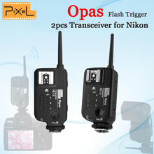 2pcs PIXEL Opas Wireless Flash Trigger Transceiver High Speed Sync HSS FSK 2.4GHz 4 Channel for Nikon D7000 D3000 DSLR Camera