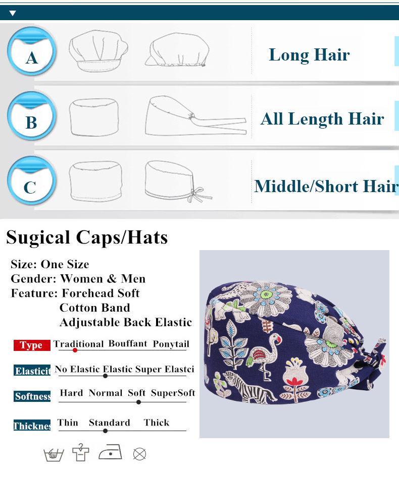 photo relating to Free Printable Scrub Hat Patterns identify Pixie Scrub Cap Sewing Routine Surgical Hat Gals and Guys 100% Cotton Printable Ease Nurse Operate Hats Tieback Professional medical Caps