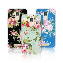Luxury Floral Art Painted Case For Asus Zenfone 3 Max ZC520TL Cover Flower Phone Case Zenfone 3 Max ZC520TL 5.2 inch+Free Gift(China)