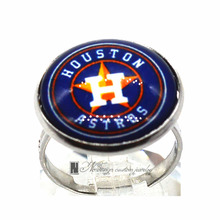 Ring MLB Seattle Mariners Charms Round Glass Dome Silver Plated  Ring For Women Girl Adjustable  GDR096