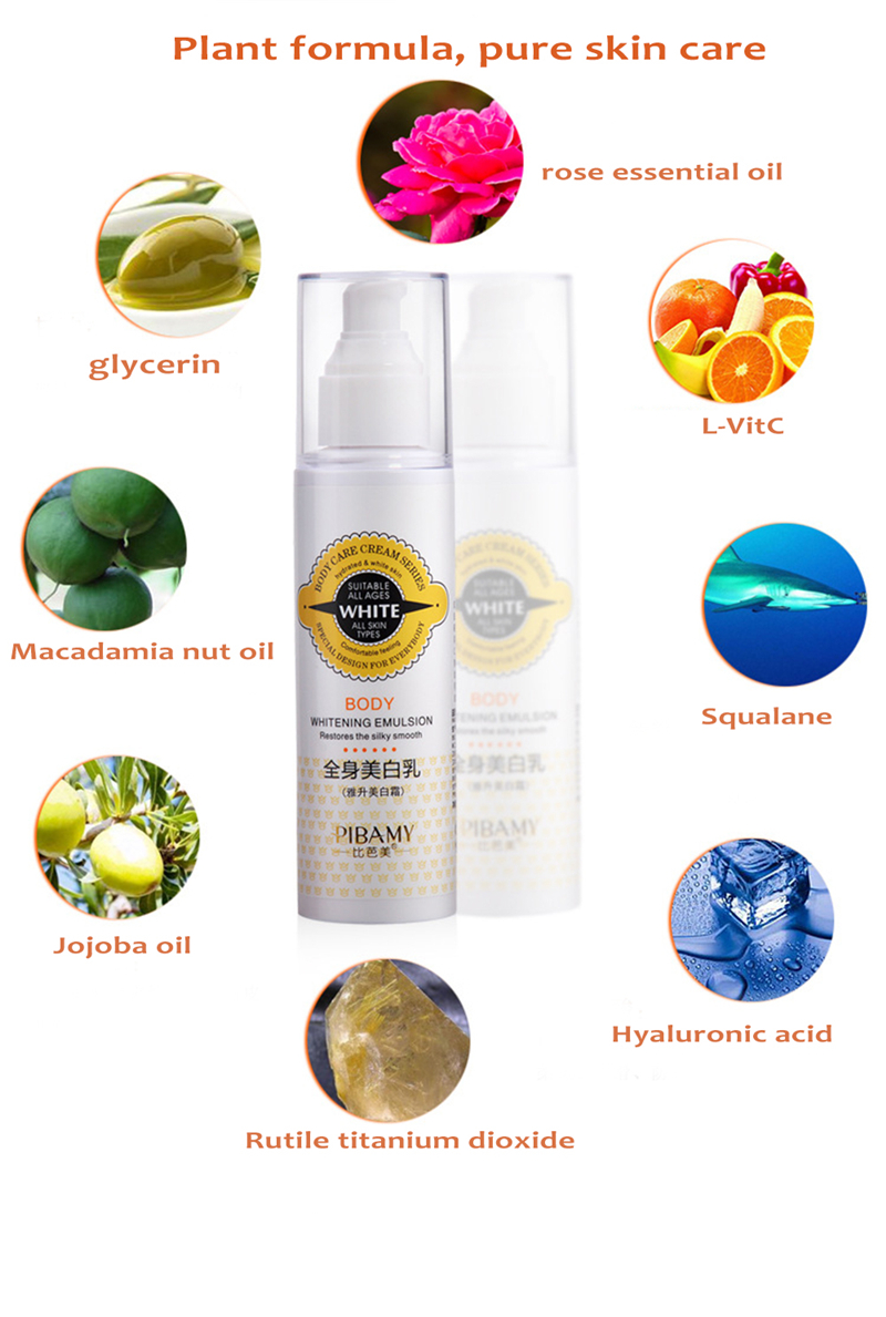 PIBAMY Instantly Whole Body Whitening Cream Moisturizer Skin Whitening Body Lotion Bleaching Cream for Neck Knee Dark Skin 150ML 11