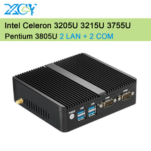 Celeron mini PC 3215U 2LAN 2COM Commercial Computer 4G RAM 128G SSD WIFI Integrated Graphics TV BOX PC