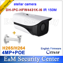 Original stellar camera 4MP DH-IPC-HFW4431K-I6 Network IP IR Bullet H265 H264 CCTV POE IPC-HFW4431K-I6 with bracket(China)