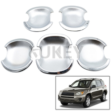 Fit For Toyota RAV4 2006 2007 2008 2009 2010 2011 2012 Cup Cap Chrome Door Bowl Cover Trim Molding Bezel Garnish(China)