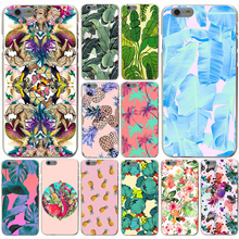 2017 NEW Cute banana leaf Fashion Design Hard Transparent Case for iPhone 7 7 Plus 6 6s Plus 5 5S SE 5c 4 4S