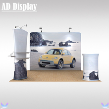 10ft*10ft Tradeshow Booth Size Tension Fabric Banner Stand With Graphic Printing,Premium Exhibition Portable Advertising Display