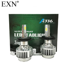 2Pcs High Quality COB LED Headlight H4 Hi/Lo Auto LED Headlight Bulb H4 Head Lamp 3300LM White Colour 6000K LED Headlight Lamp