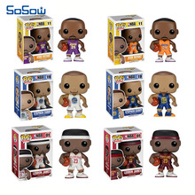 Funko pop NBA Nendoroid 10cm PVC Lebron James Kobe Bryant Stephen Curry Basketball Sport Super Star Action Figure Toys