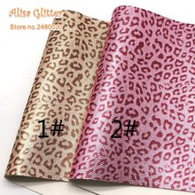 1 stks A4 MAAT 21X29 cm Alisa Glitter Cuero Sintetico Gedrukt Luipaard Leer  voor DIY F02 a355e1e04783