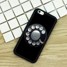 Soft TPU Phone Cases For iPhone 6 6S 7 Plus 5 5S 5C SE 4 4S ipod touch 4 5 6 Cover Shell OLD PAYPHONE DIAL UP BLACK VINTAGE(China)