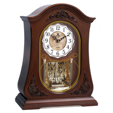 POWER Brand High-end Wood Desk Clock Silent Quartz Movement Table Clock Crystal Masa Relogio De Saati Music Hourly Chiming Saat(China)
