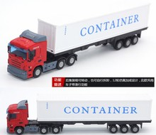 1:48 Alloy Truck Toys Metal Model Car Diecast Cars 1/48 City Vehicle Model Toys For Children SCANIA Brinquedos
