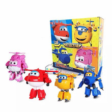 2016 Best Selling Super Wings Toys Deformation Planes Transformation robot Action Toy Figures kids toys gift Brinquedos(China)