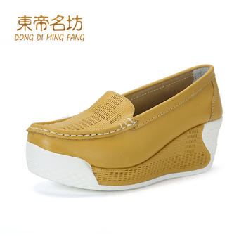 2017 Spring Autumn Shoes Cow Split Leather High Heel Pump Rubber Sole Dress Shoes A307