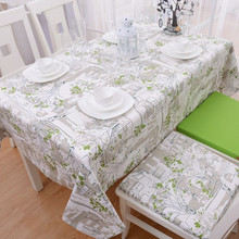 2014 New European Country Style Green Trees Print Tablecloths Modern Shabby Chic Dining Table Cloth Fashion Kitchen Table Cloths