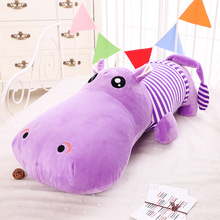 50cm Cotton Cushion Plush Hippos Stuffed Large Soft Toy Sleeping Pillow kids gifts Free Shipping
